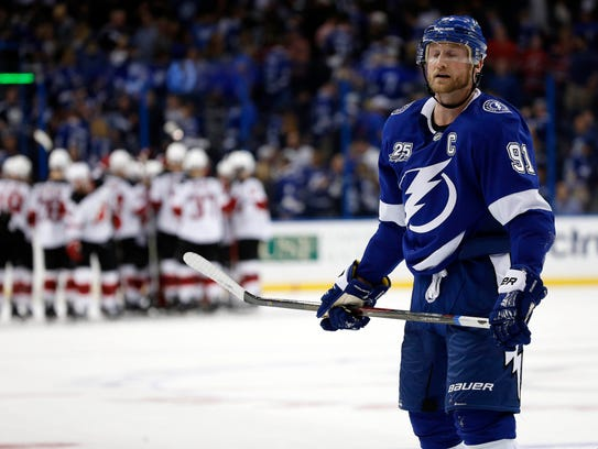 Feb 17, 2018; Tampa, FL, USA; Tampa Bay Lightning center