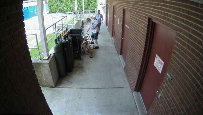 Police are seeking information about these two men in the theft of air conditioners from Waynesboro Hospital on Sunday, June 24, 2018.