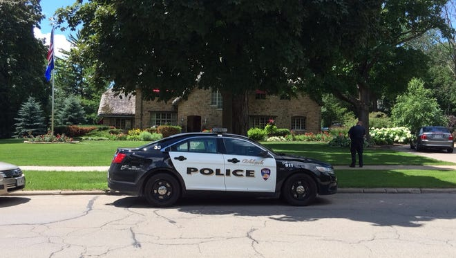 Oshkosh Police investigate an armed robbery Wednesday afternoon on Algoma Bouleveard.