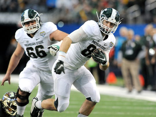 Michigan State tight end Josiah Price