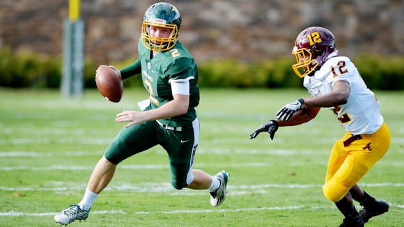 Christ School's Drew Johnson (2) and the Greenies beat Winston-Salem Atkins on Saturday in Arden.