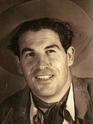 "Frank Bogert ""The Cowboy Mayor"" at age 25, 1935."