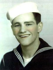 A picture showing John Bradley, who served in the Navy