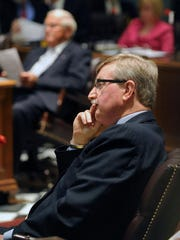Sen. Gary Simpson, R-Milford, is the House Minority Leader, making him a key figure in Delaware's budget debate.