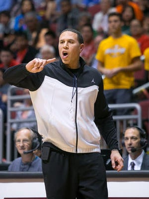 """Mike Bibby is """"a drawing card"""" at Shadow Mountain, Athletic Director Mike Warren admits."""