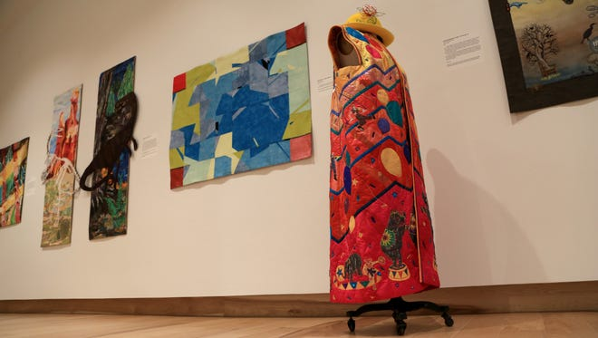 """""""Pathfinders: New Territories,"""" a national juried art quilt exhibition, is on display at the Southern Utah Museum of Art in Cedar City through Aug. 26."""