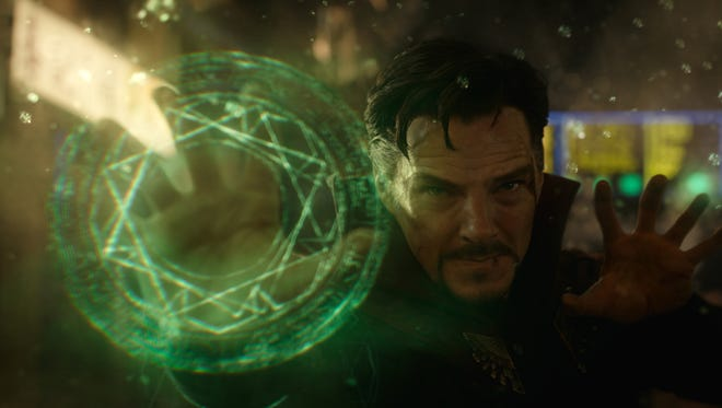 Benedict Cumberbatch stars as a rookie sorcerer in 'Doctor Strange.'