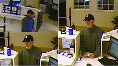 Monroe County Sheriff's Office releases photo of a bank robbery suspect at the Five Star Bank, 2 West Ave., Clarkson.