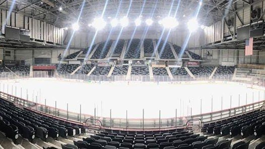 Members of a new Facebook group are seeking to convince Shawnee County officials to build a permanent indoor ice rink, which would be similar in size to this temporary indoor rink photographed last year at Stormont Vail Events Center.