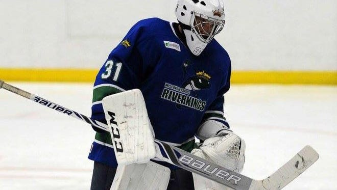 Wisconsin Rapids Riverkings goalie Erik Schuette stopped 11 of the 12 shots he faced and stopped all three shooters in a shootout with the University of Northern Michigan on Saturday. The Riverkings won 2-1.