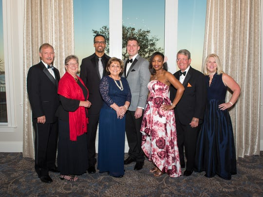 United Way of St. Lucie County Board Members, from left, Howard Tipton, campaign chair; Marsha Thompson, Herman Funderburk; Karen Knapp, CEO/President; Andrew Treadwell, board chair; Shelly Thomas, Bob Bysshe, and Jan Chase.