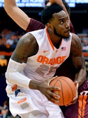 Rakeem Christmas looks to put up a shot during the
