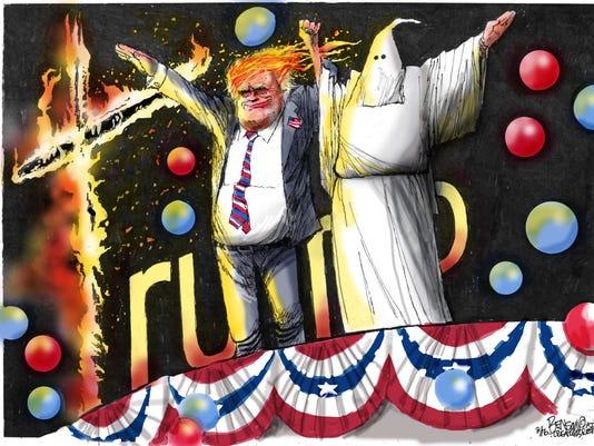 Trump's KKK cross to bear