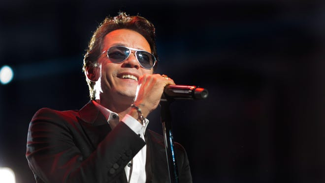 Marc Anthony performs live at the Jobing.com Arena in Glendale on Aug 30, 2014.