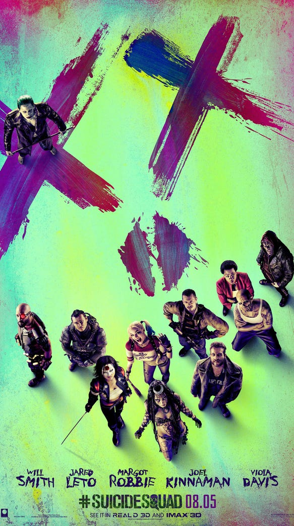 "The gang's all here for the ""Suicide Squad"" poster."