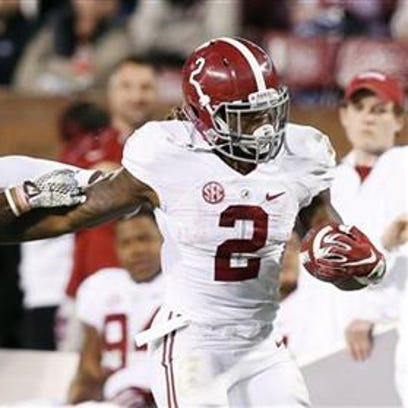 Derrick Henry and the Alabama Crimson Tide remain second