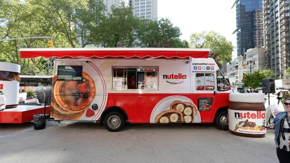 The  Nutella Food Truck, shown here in NYC, is headed for Philly.