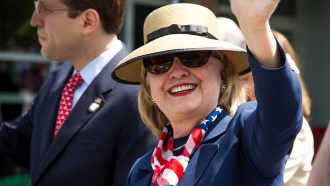 Hillary Clinton at Memorial Day Parade In Chappaqua
