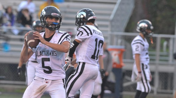 North Buncombe quarterback Chase Parker (5).