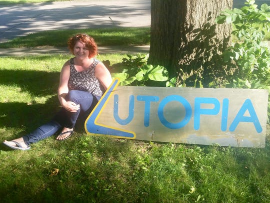 Jodi Taylor, who went to to Utopia Diner as a customer and as a waitress, still has the sign for the restaurant after it closed following a decade-long run in Chauncey Hill Mall in West Lafayette.