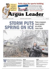 Cover of the April 10, 2013 Argus Leader documenting