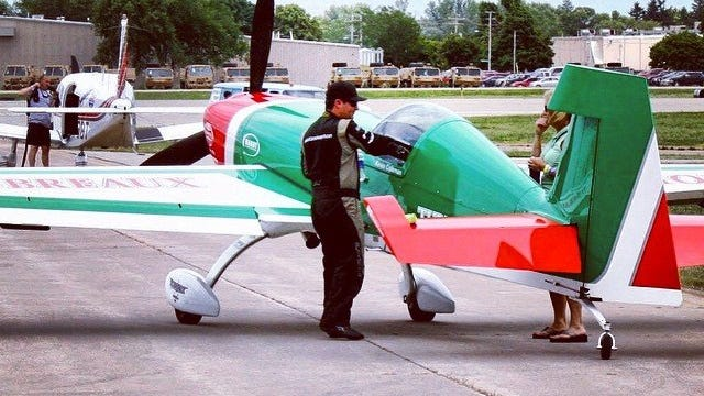 Pilot Kevin Coleman will fly the re-engineered Extra 300SHP in the Barksdale Air Show Saturday and Sunday.
