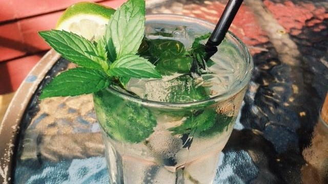 The Artmosphere Mule combines soulful mint, fruity blueberry vodka and ginger beer.
