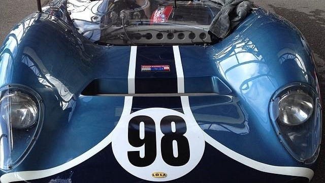 Parnelli Jones, who won the Indy 500 in 1963, drove this English-built Lola Can-Am car at road races at Riverside and Laguna Seca.