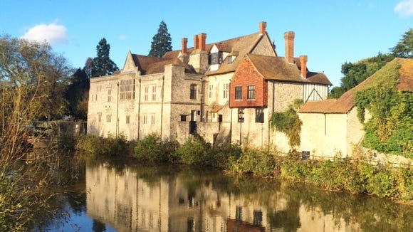 Not going into work gives you more time to exercise. Just one view of my new running route -- the Archbishop's Palace in Maidstone. (Photo by McKenna Grant)