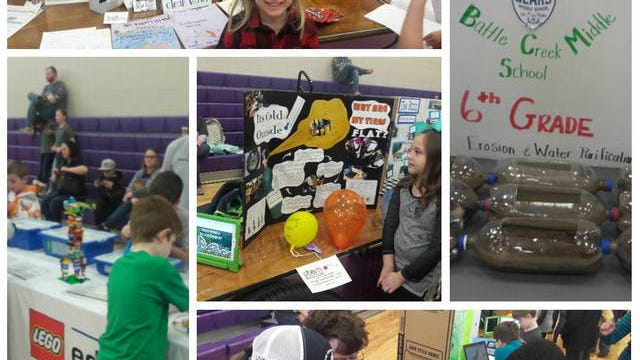 Inside two gymnasiums at Columbia Central High School, 145 projects where shown from students representing all of the county's 22 public schools during a STEM Expo on Saturday, March 7, 2020.