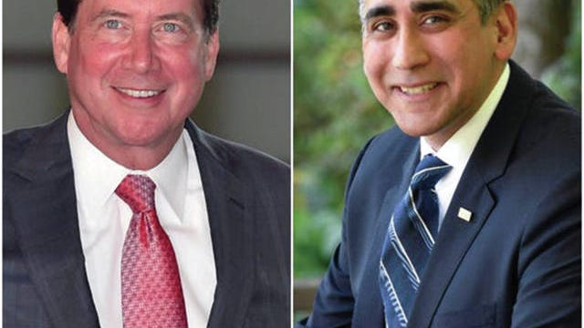 Bill Hagerty, left, is running for the Republican U.S. Senate nomination against Manny Sethi, right.