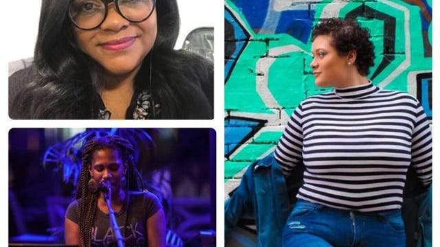 Some of the speakers and performers scheduled to lead a rally in support of black lives in Rochester on June 14 include (clockwise from top left) Jamie Perkins, MC Gill and Yamica Peterson-Cain.