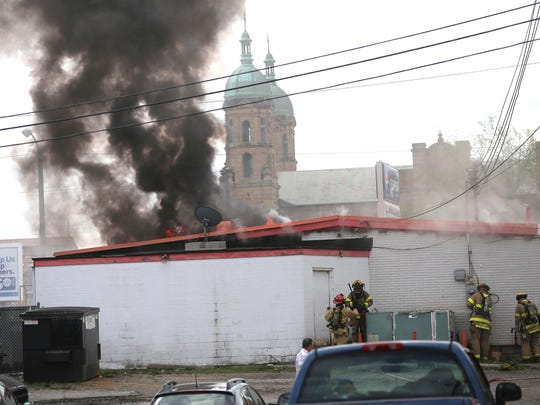 The Mansfield fire department was dispatched to the Kruzin Coffee shop on West Park Avenue on Friday afternoon.
