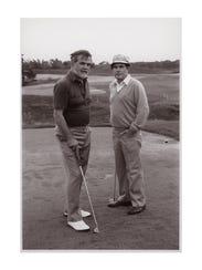 Herbert Kohler Jr. and golf course designer Pete Dye