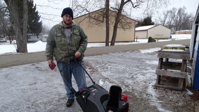 James Stull cleans sidewalks and driveways of snow and ice for people who are elderly, veterans, or disabled in Coshocton. Recently, 27 residents collected money to buy Stull a snowblower to make the work a bit easier for him.