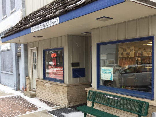 The Laingsburg Public Library is pictured on Wednesday,