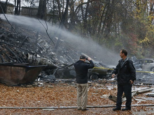 APTOPIX Plane Crash-Apartment Building