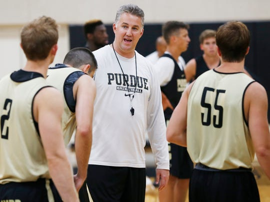 Head coach Matt Painter with instructions for his players