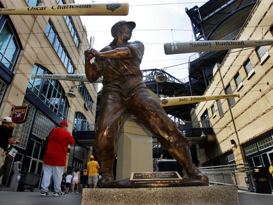 Negro League home run king, and Pittsburgh native Josh Gibson's statue is front and center in Legacy Square  at PNC Park. Gibson's  is one of eight displays honoring former Negro League stars who spent time playing for one of Pittsburgh's two teams, the Homestead Grays, and Pittsburgh Crawfords.