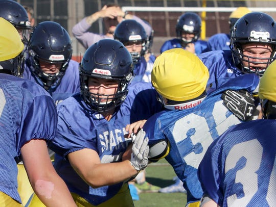 Action and faces at the line of scrimmage.