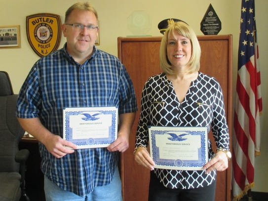 Butler police officers Bryan Gordon and Sgt. Colleen