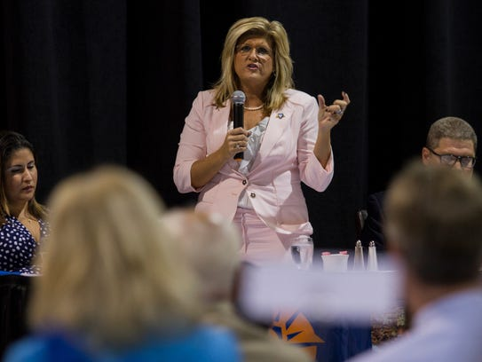 Cape Coral mayor Marni Sawicki was one of the guest