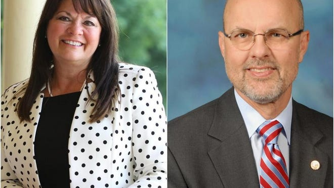 Mary Burress, left, and Dave Koehler