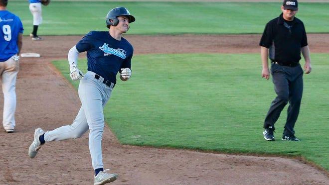 Hutchinson's Luke Sartori rounds third base after hitting a home run Thursday night against Cheney.