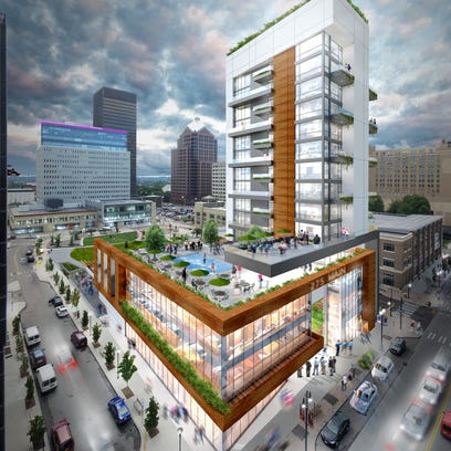 A rendering shows the Gallina proposal for Midtown