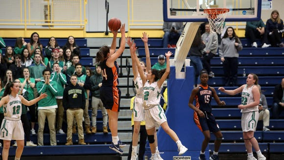 Irvington defeated Briarcliff, 74-64, in the Section 1 Class B girls basketball finals at Pace University March 4, 2018 in Pleasantville.