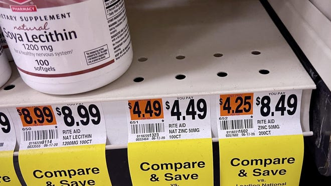 The downtown Fall River Rite Aid store on Thursday was sold out of both 100- and 200-count bottles of zinc vitamins.