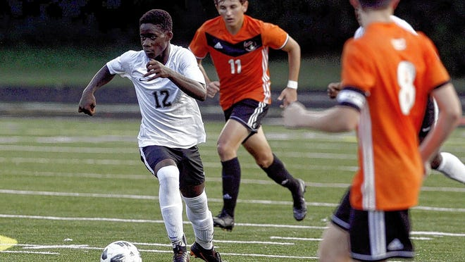 Senior midfielder L.J. Minah is one of five returning starters for the Groveport Madison boys soccer team, which went 14-3-1 overall and 5-0 in the OCC-Capital Division last season. It was the program's first league championship.