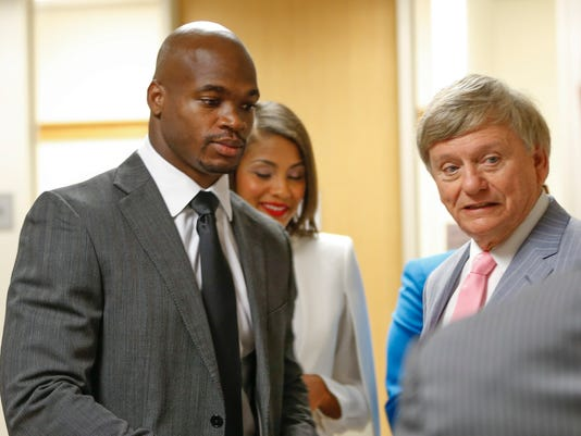 NFL: Adrian Peterson-Arraignment