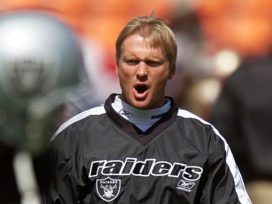 Jon Gruden on August 19, 2001.